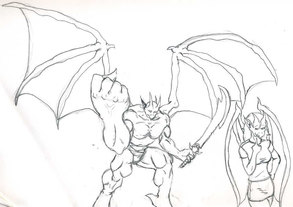 gargoyle coloring pages - photo#14