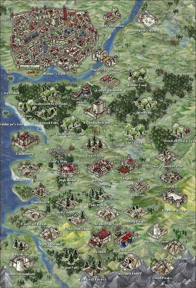 Sword Coast Map Labels Miscellaneous Released Mods